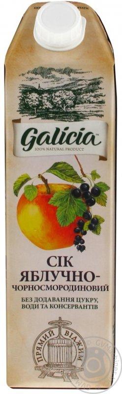 Galicia сік 1л яблучно-чорносмородиновий