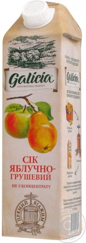 Galicia сік 1л яблучно-грушевий