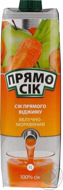 Прямосік сік 1л яблучно-морквяний