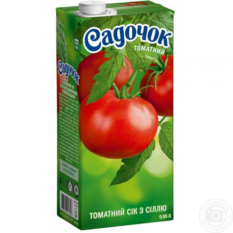 Садочок сік 0,95л томатний з сіллю