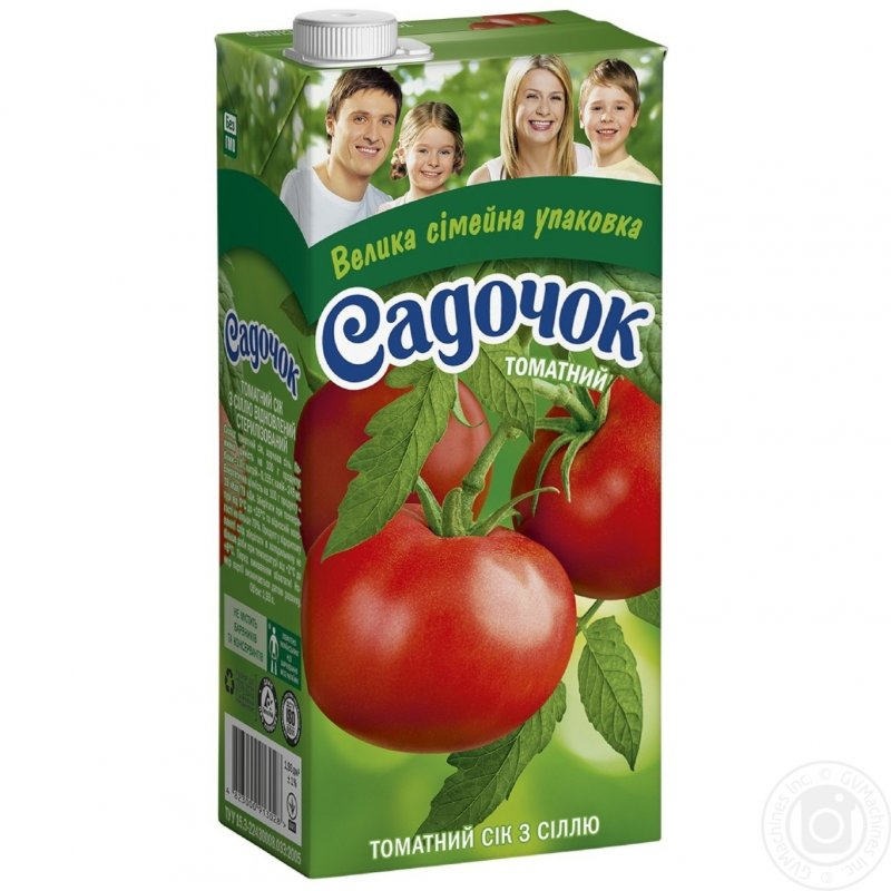 Садочок сік 1,93л томатний з сіллю