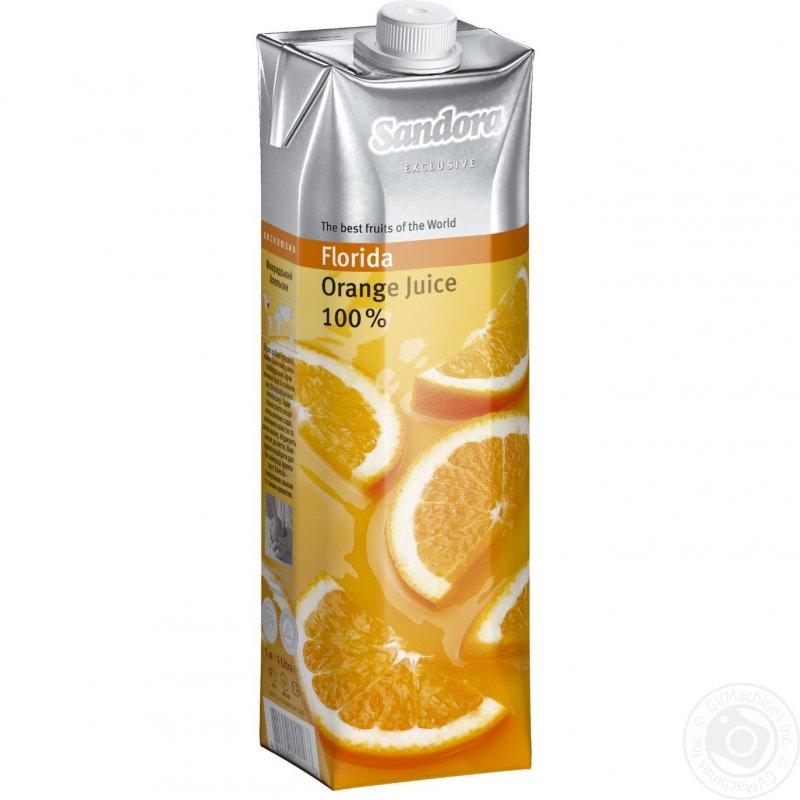 Sandora сік 1л ексклюзив із флоридських апельсинів