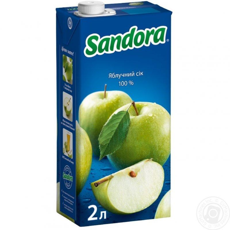 Sandora сік 2л яблучний