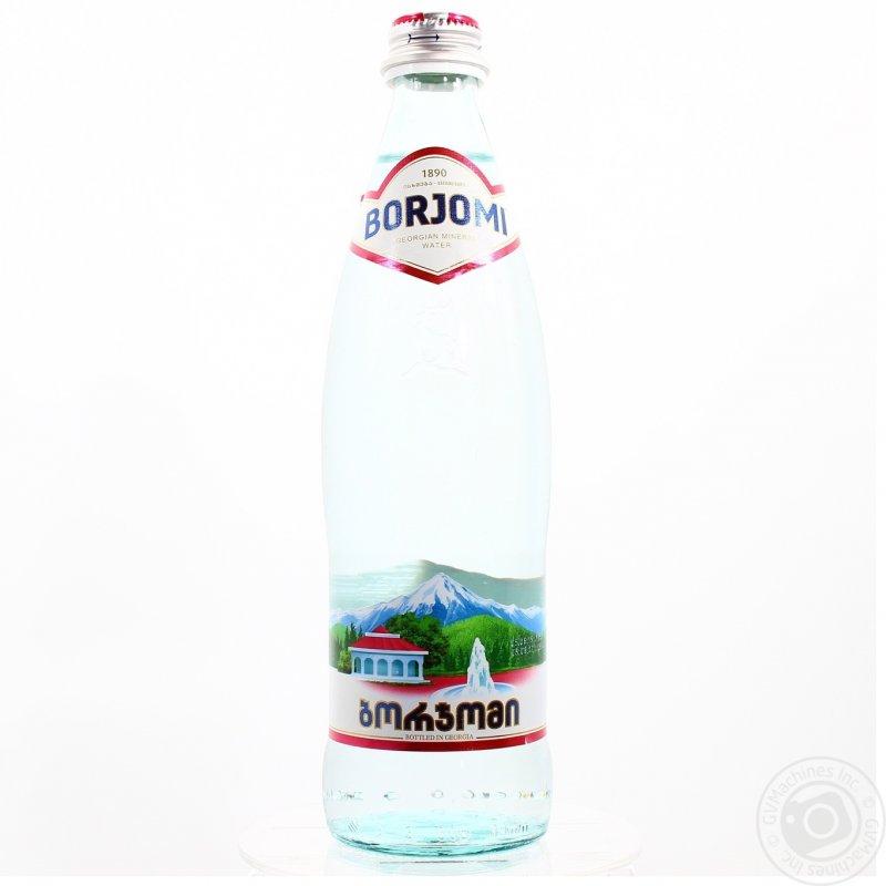 Вода Боржоми сильногазированная лечебно-столовая стеклянная бутылка 500мл