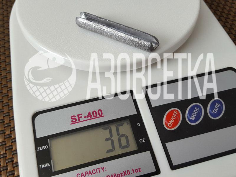 Сетевые грузила с разрезом для оснащения рыболовных сетей, 36 гр., (упаковка 50 шт.)
