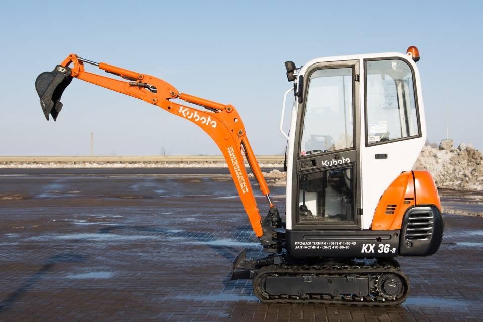 Buy Pass the Kubota KX36-3 excavator