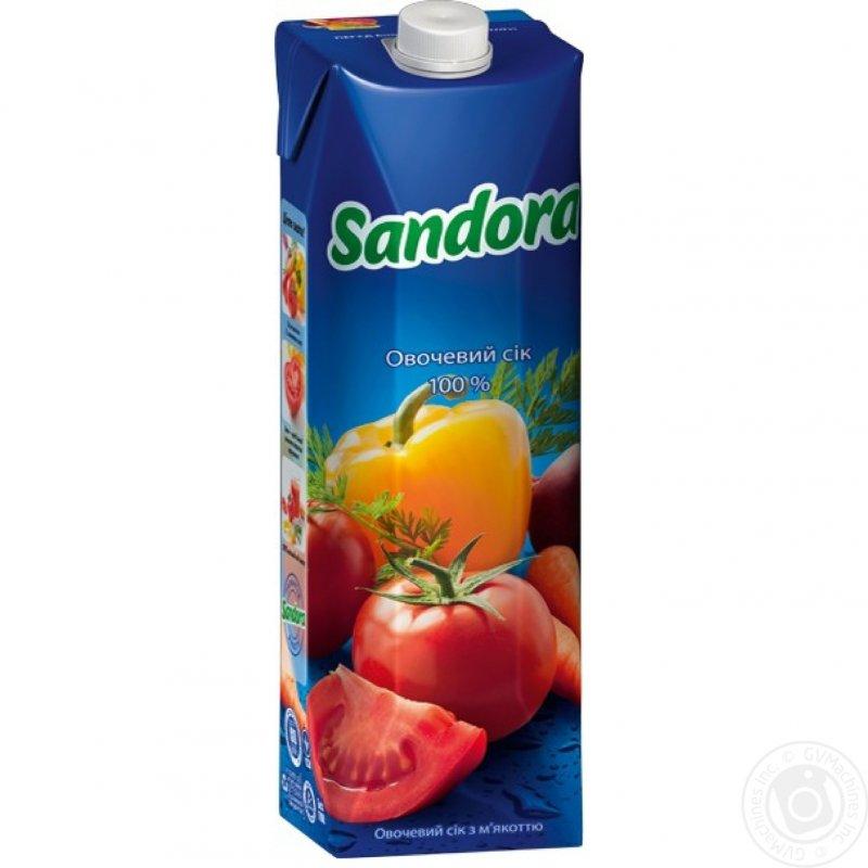 Sandora сік 1л овочевий з м'якоттю