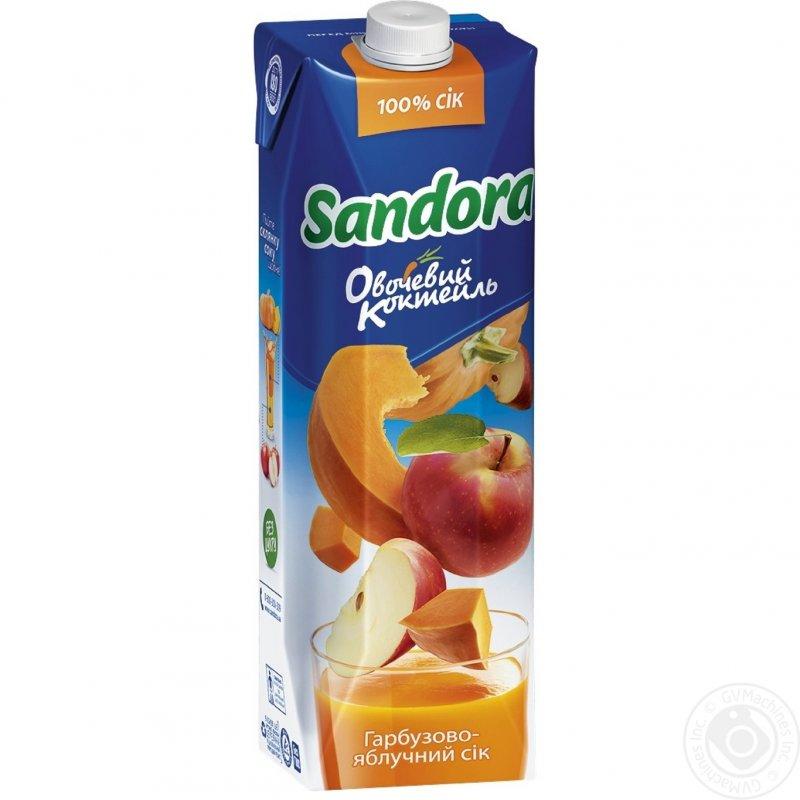 Sandora сік 0,95л овочевий коктейль гарбузово-яблучний