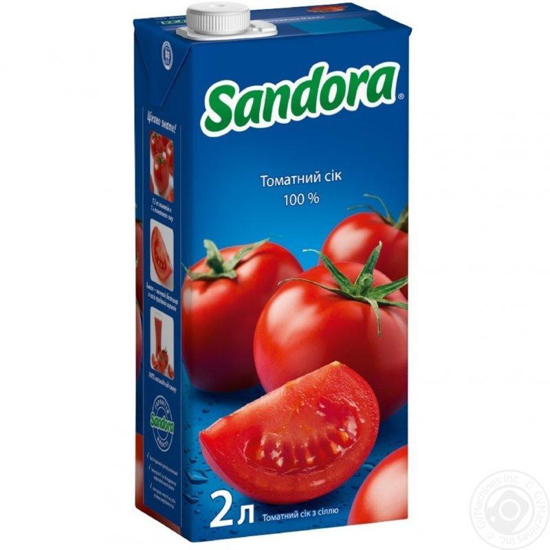 Sandora сік 2л томатний з сіллю