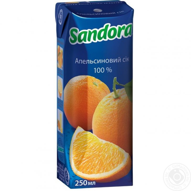 Sandora сік 0,25л апельсиновий (9 штук)