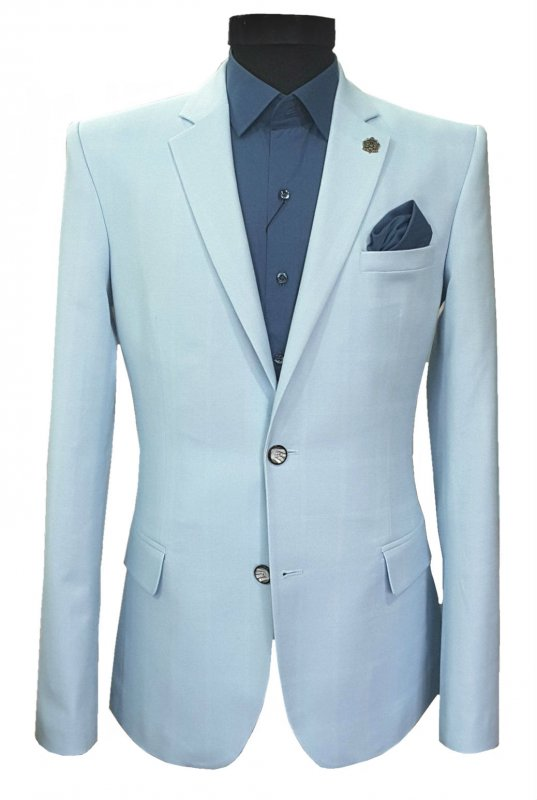 The men's jacket fitted blue in a cage No. 75/2 - 1509764 goal.