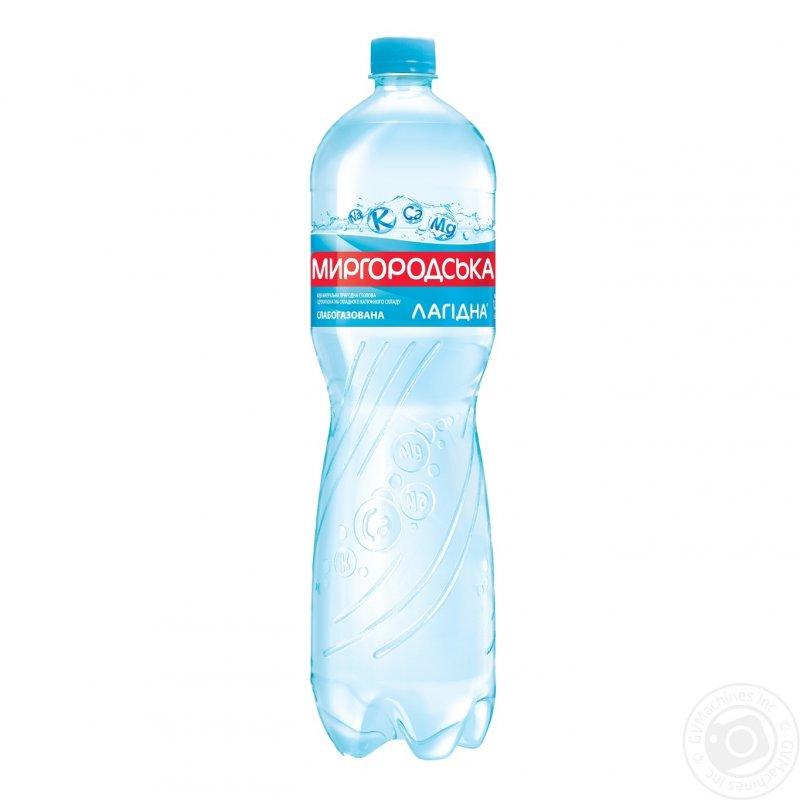 Comprar El agua mineral el Lagidna Mirgorodsky natural slabogazirovannaya la botella de plástico 1500мл Ucrania