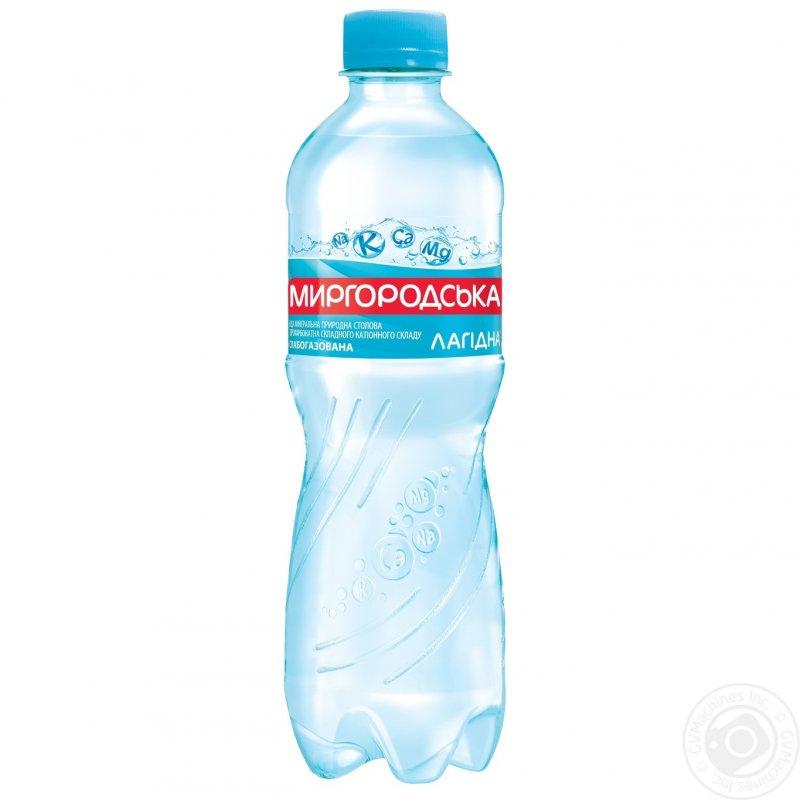 Comprar El agua mineral el Lagidna Mirgorodsky natural slabogazirovannaya la botella de plástico 500мл Ucrania