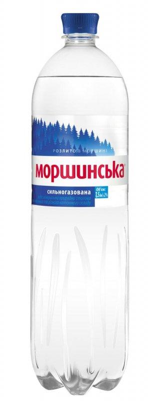 Минеральная вода Моршинская сильногазированная пластиковая бутылка 1500мл Украина
