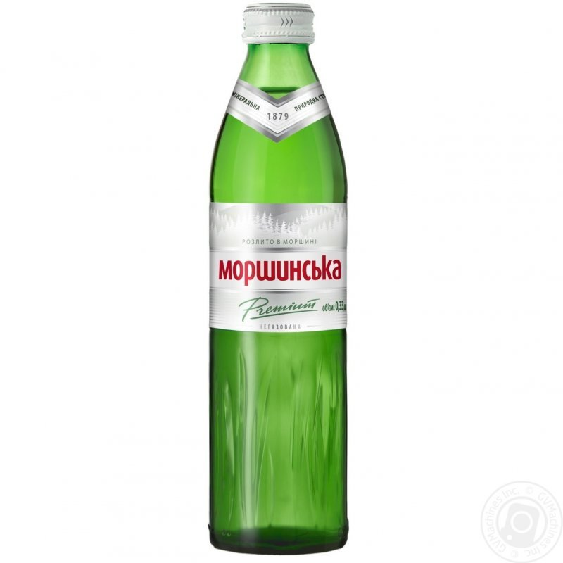 Comprar El agua mineral Morshinsky natural no gaseoso steklyanaya la botella 330мл Ucrania