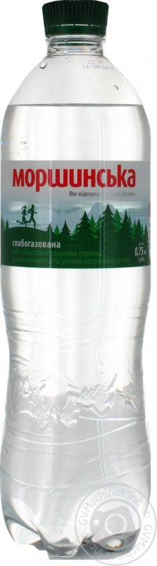 Buy Mineral water Morshinsky natural slabogazirovanny platikovy bottle of 750 ml Ukraine