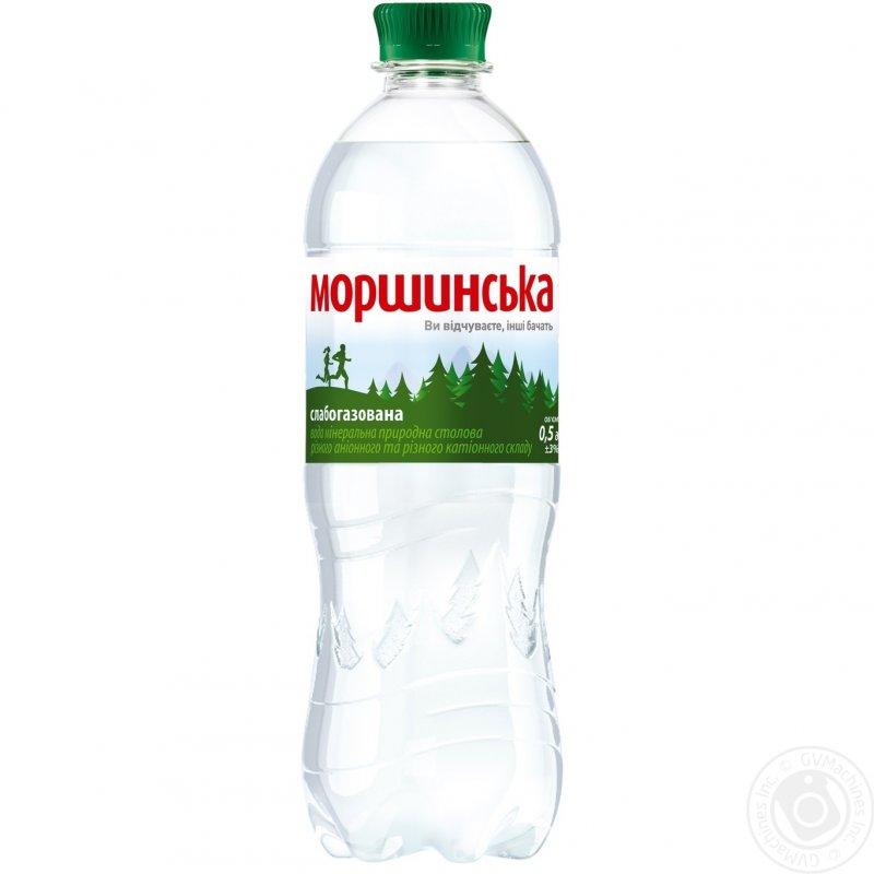 Минеральная вода Моршинская природная слабогазированная пластиковая бутылка 500мл Украина