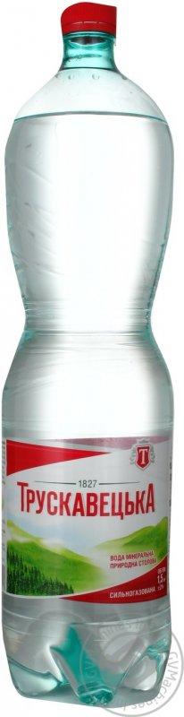 Купить Минеральная вода Трускавецкая природная сильногазированная пластиковая бутылка 1500мл Украина