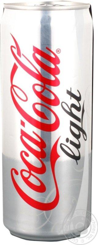 Вода Coca-cola light ж/б, 0.33л (12 штук)