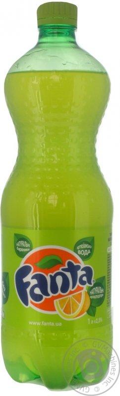 Вода Fanta лимон 1л (12 штук)