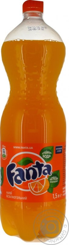 Вода Fanta апельсин 1,5л