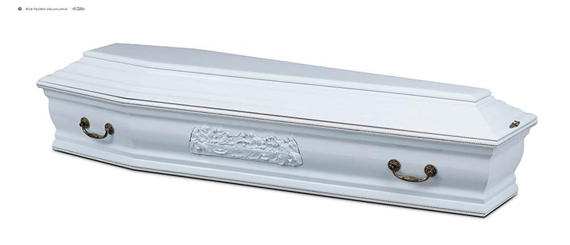 Гроб стандартный лакированный ФРАНЦИЯ белый