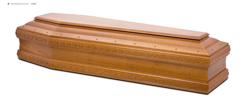 Гроб стандартный лакированный М-024