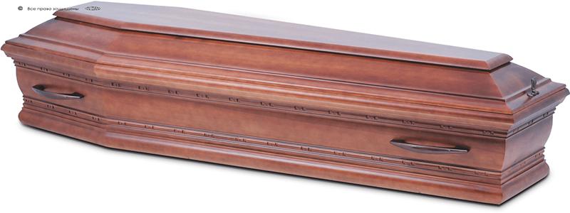 Гроб стандартный лакированный М-025