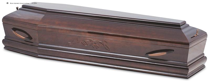 Гроб стандартный лакированный М-060