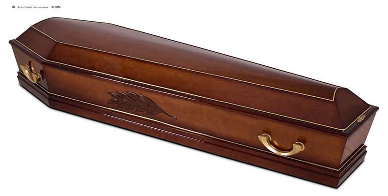 Гроб эконом лакированный ДК-6