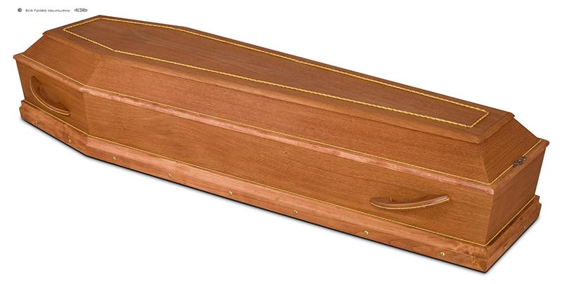 Гроб эконом лакированный Д-6 ДУБ