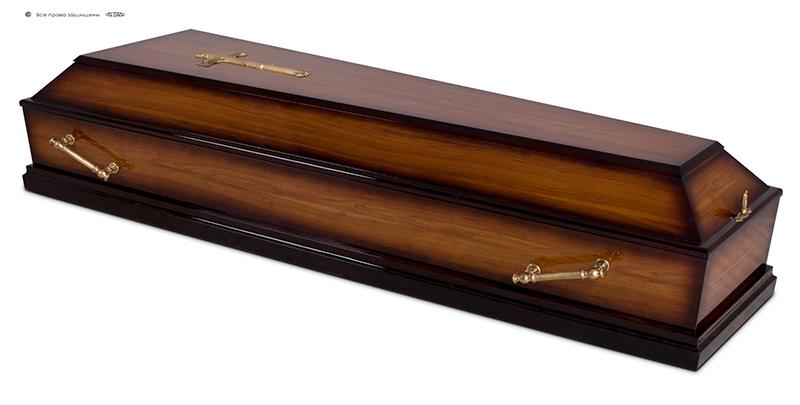 Гроб эконом лакированный Д-4