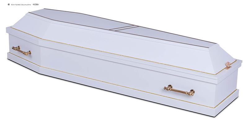 Гроб эконом лакированный Д-6 белый