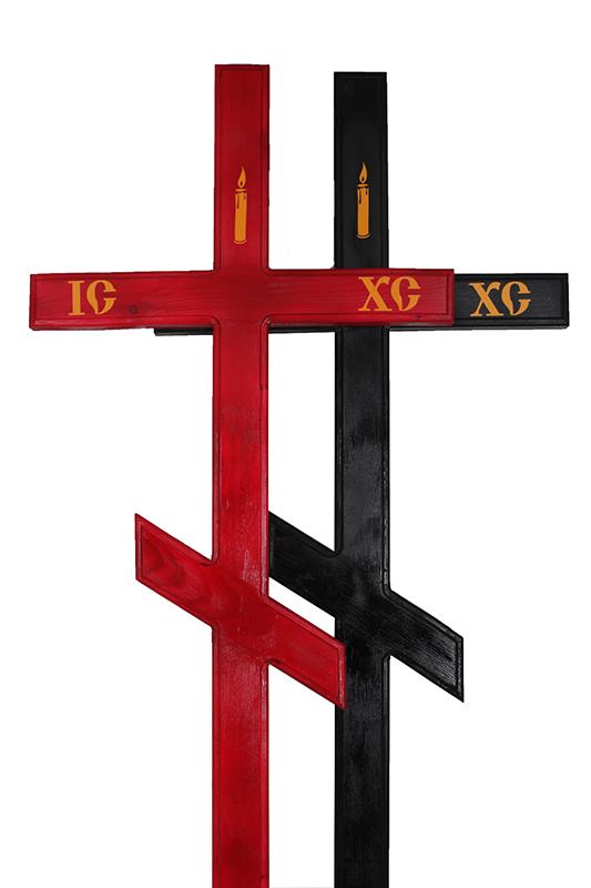 Крест деревянный 2/10