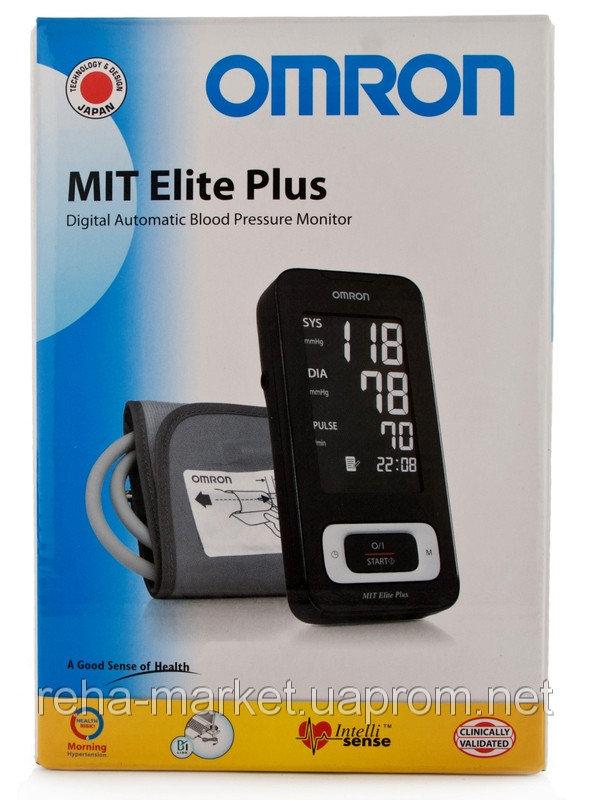 Автоматический тонометр с манжетой на плечо.  OMRON MIT Elite Plus