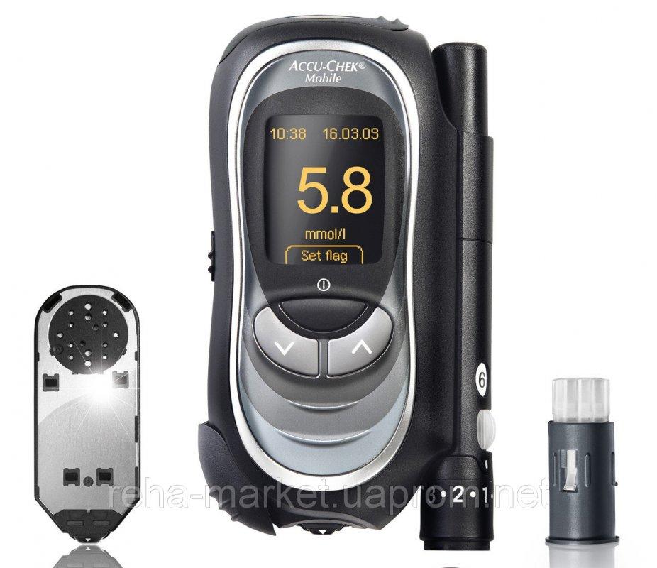 Глюкометр Акку-Чек Мобайл (Accu-chek Mobile) с кассетой на 50 тестов в комплекте