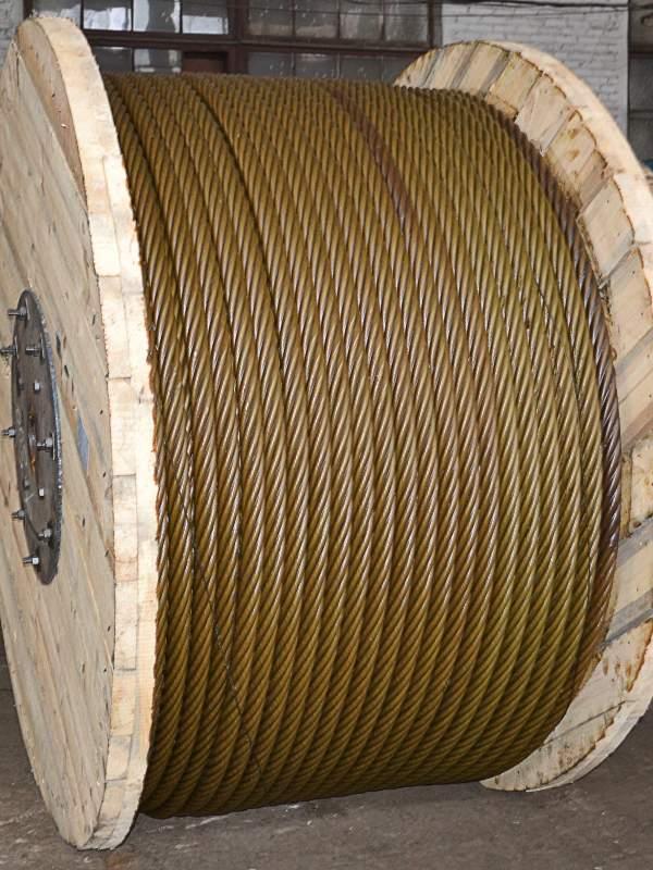 Канаты стальные (трос стальной) диаметром от 0,5 мм до 78,0 мм около 2000 типоразмеров