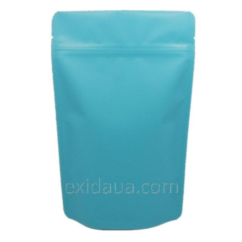 Дой-пак пакет с застежкой zip 140мм х 240мм бирюзовый