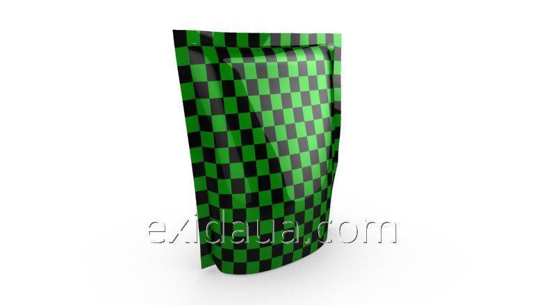 Дой-пак пакет с застежкой zip 140мм х 240мм зеленый
