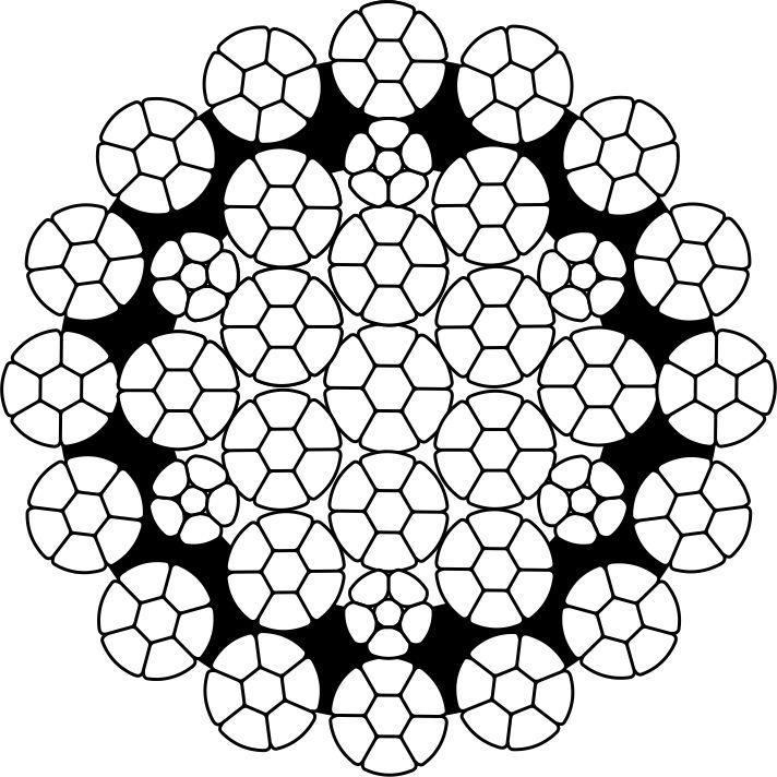 Канат стальной многопрядный некрутящийся типа ПК