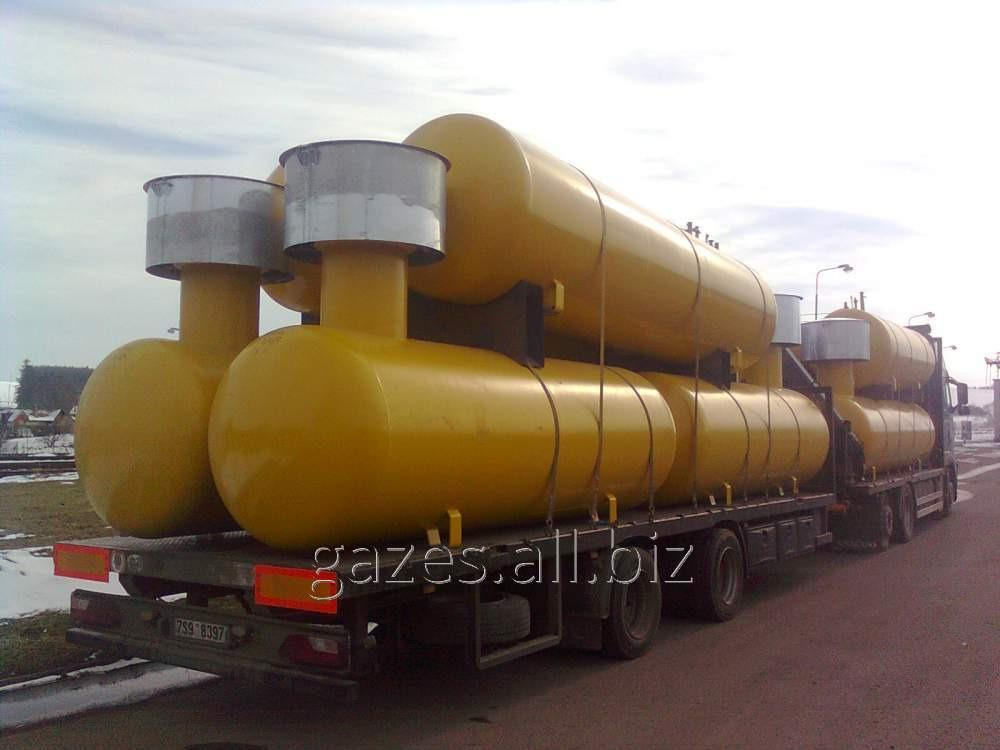 Резервуары (газгольдеры) для хранения СУГ от 2,7 до 100м3