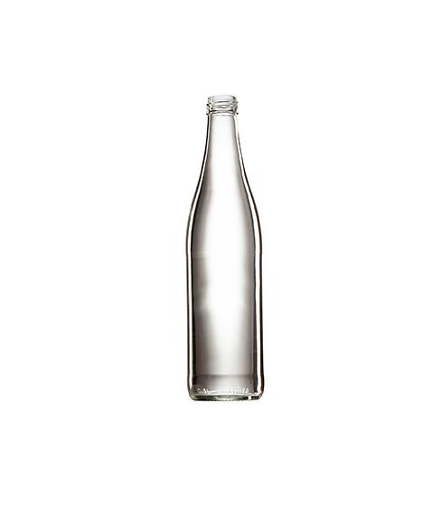 Стеклянная бутылка бесцветная для минеральной воды 500 ml, MCA