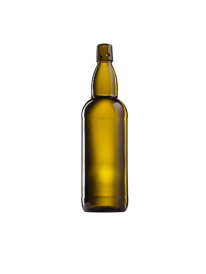 Стеклянная бутылка для пива коричневая 1000 ml, Swing stopper
