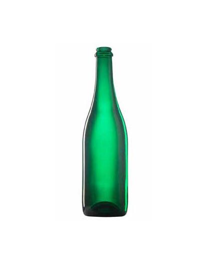 Стеклянная бутылка для шампанского 750 ml, Champagne, цвет зеленый