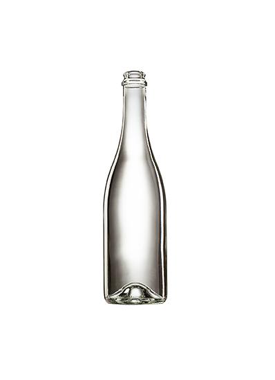 Стеклянная бутылка для шампанского 750 ml, Champagne, цвет прозрачный