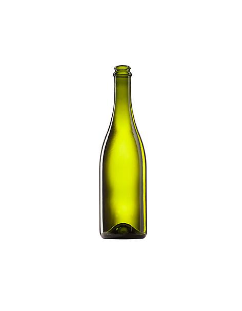 Стеклянная бутылка для шампанского оливковая 750 ml, Champagne