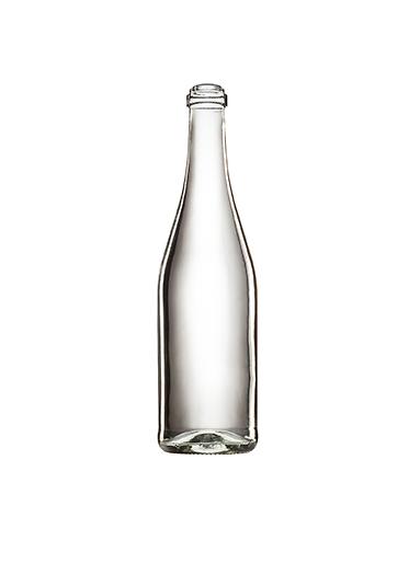 Стеклянная бутылка для шампанского прозрачная 750 ml, Champagne