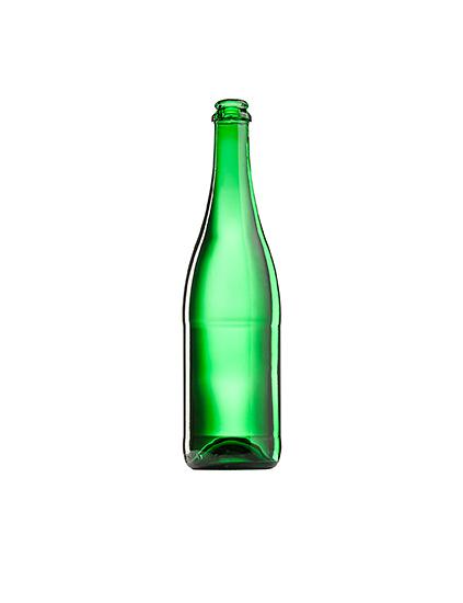 Стеклянная бутылка для шампанского 750 ml, Champagne, зеленого цвета