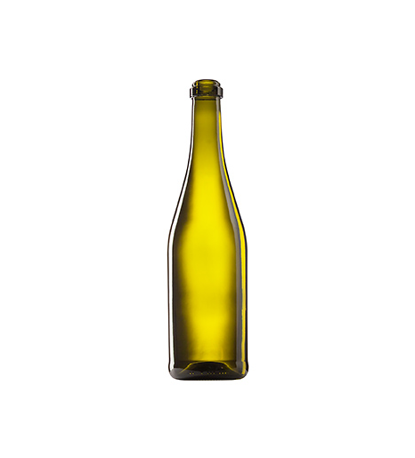 Стеклянная бутылка для шампанского 750 ml, Champagne, оливкового цвета