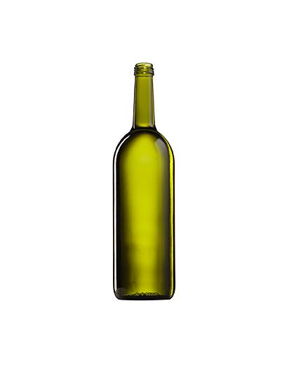 Стеклянная бутылка для вина зеленая 1000 ml, MCA